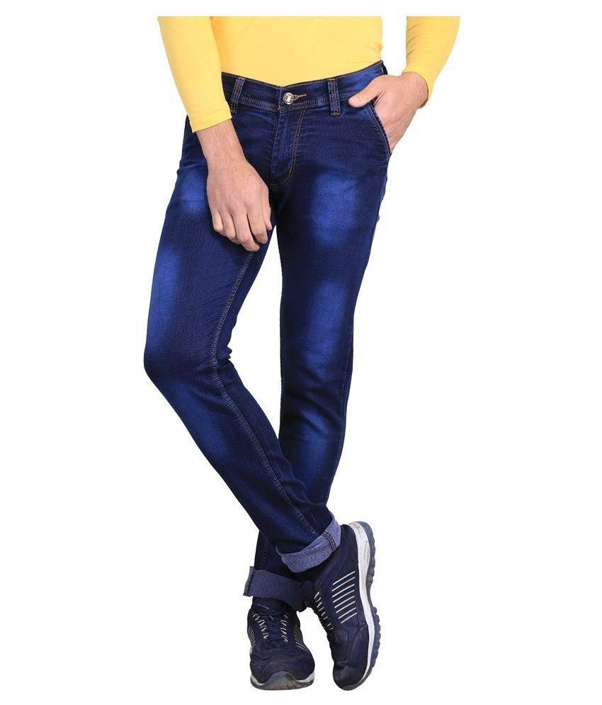 X-cross Blue Slim Fit Faded Jeans