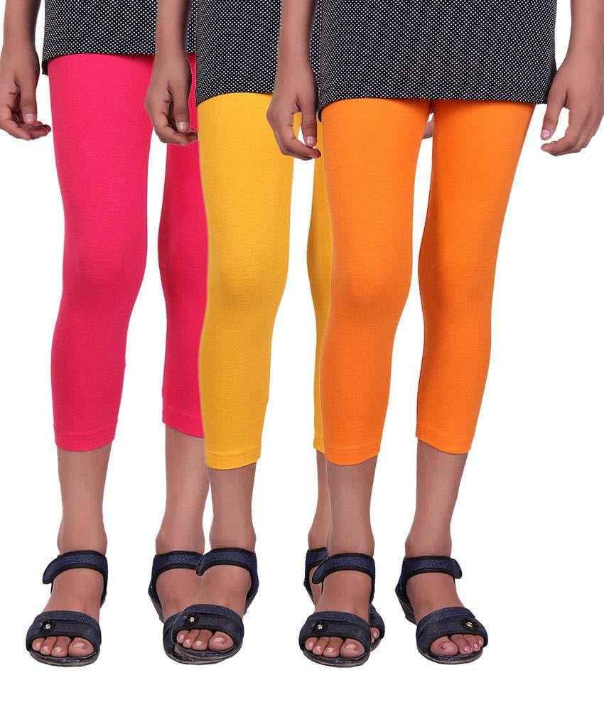 Alisha Multicolor Capri - Pack of 3