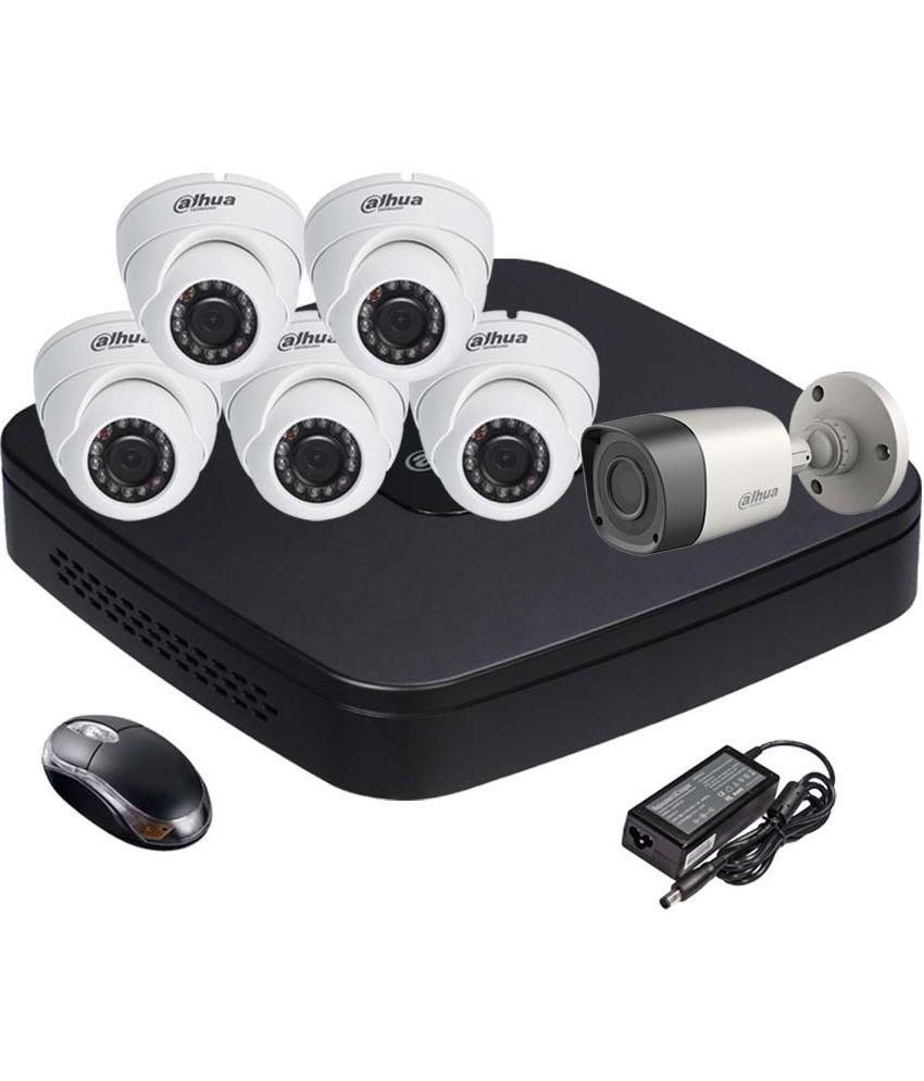 Dahua DH-HCVR4108C-S2 8CH Dvr, 1(DH-HAC-HFW1000RP-0360B) Bullet, 5(DH-HAC-HDW1000RP-0360B) Dome Camera (With Mouse)