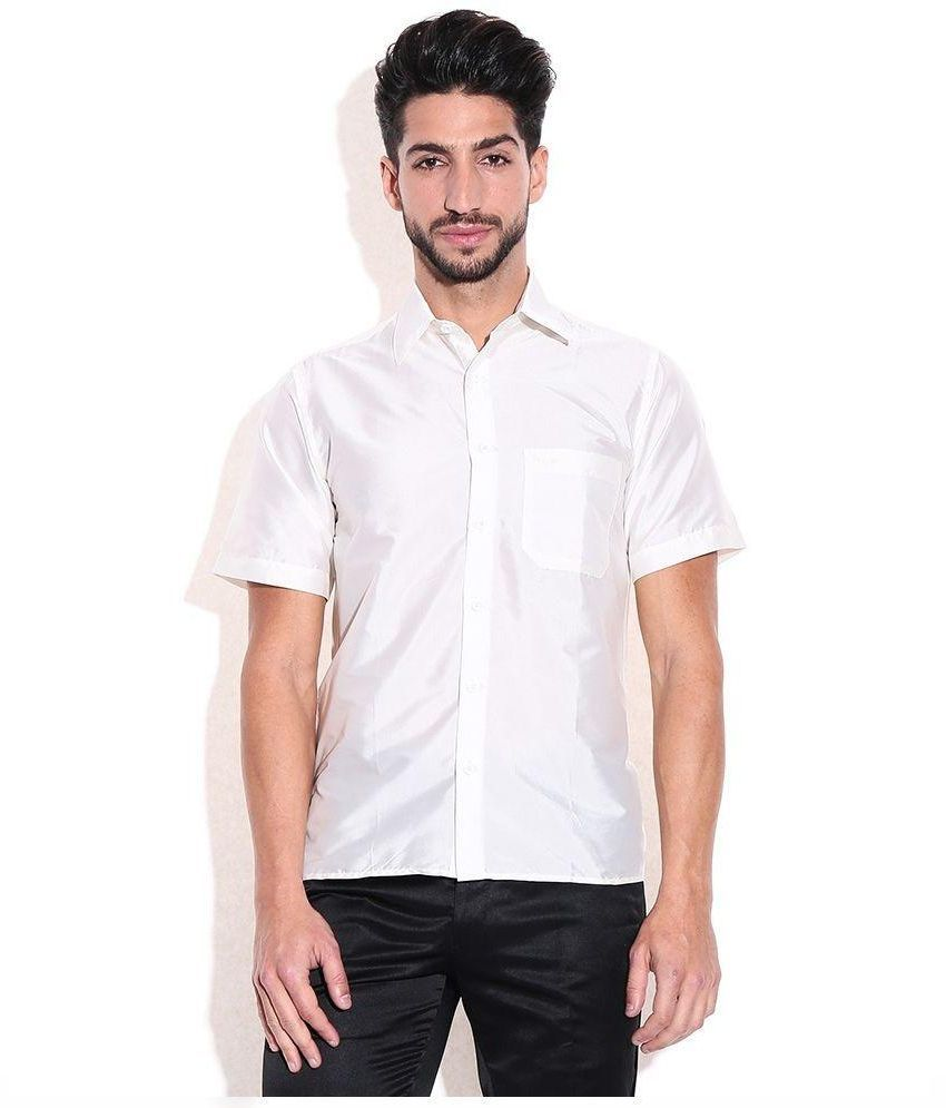 Kenrich White Silk Shirt - Buy 4 and get 1