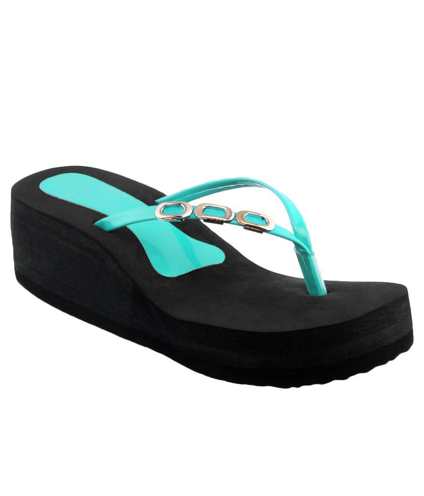 Shoe Lab Turquoise Slippers