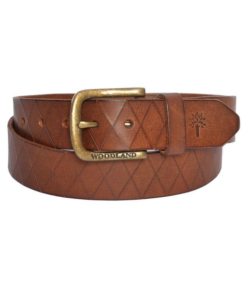 Woodland Tan Leather Casual Belt for Men Art ABT1036041TAN