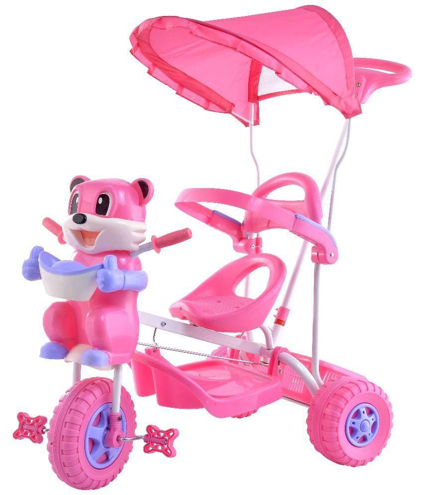 Love Baby Pink Plastic Tricycle Trike Cycles For Baby Kids