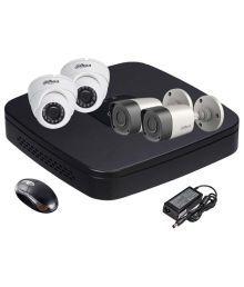 Dahua HDCVI 4CH DVR + Dahua HDCVI Bullet Camera 2Pcs And Dome Camera 2Pcs Combo