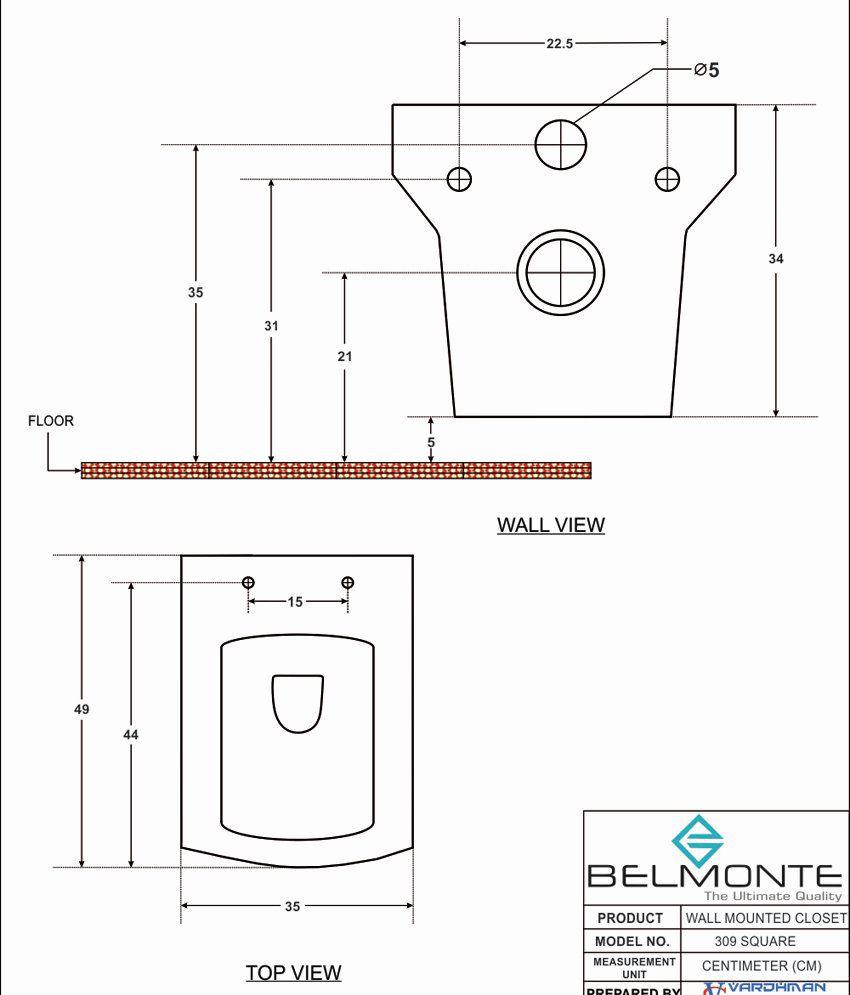 Belmonte Wall Hung Water Closet Belmonte Wall Hung Water Closet