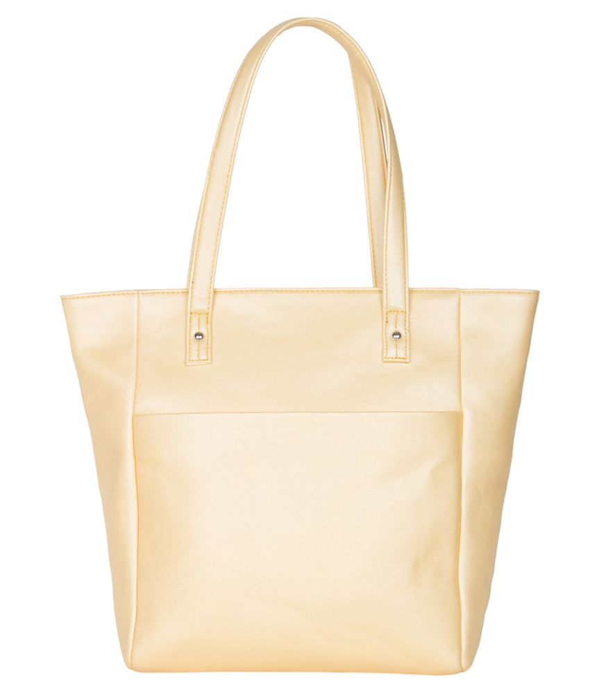 Ekora Yellow P.U. Tote Bag