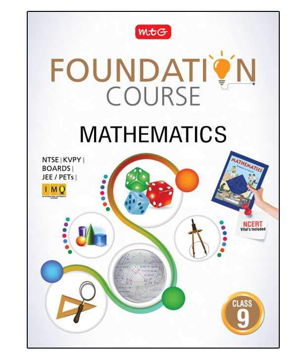 Mathematics Foundation Course For Class 9 Paperback English 2016
