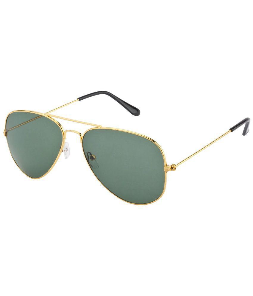 Blue Green Aviator Sunglasses