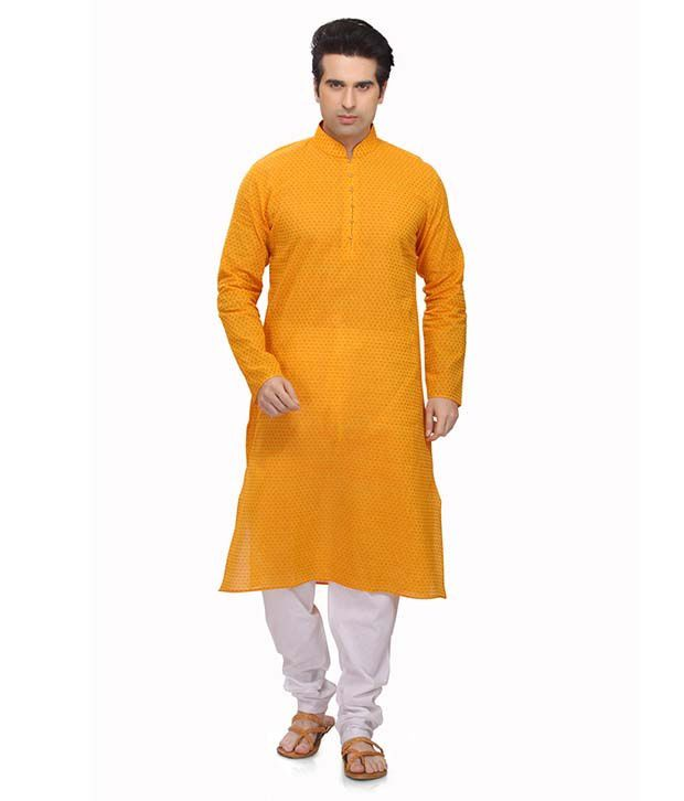 RG Designers Yellow Kurta Pyjama Sets
