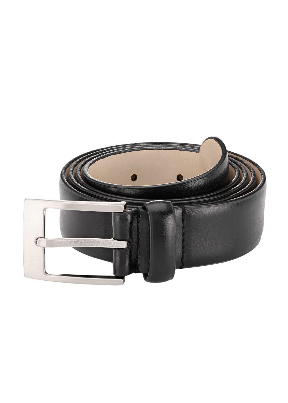 Raymond Black Leather Belt for Men