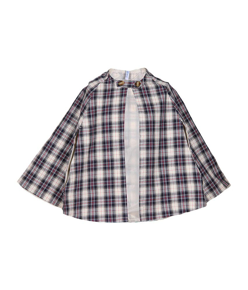 Miss Alibi Cotton Multicolour Checkered Girls's Jacket