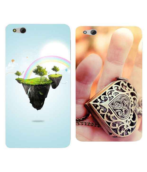Everything Multicolor Printed Back Cover For Infocus M680 - Set Of 2