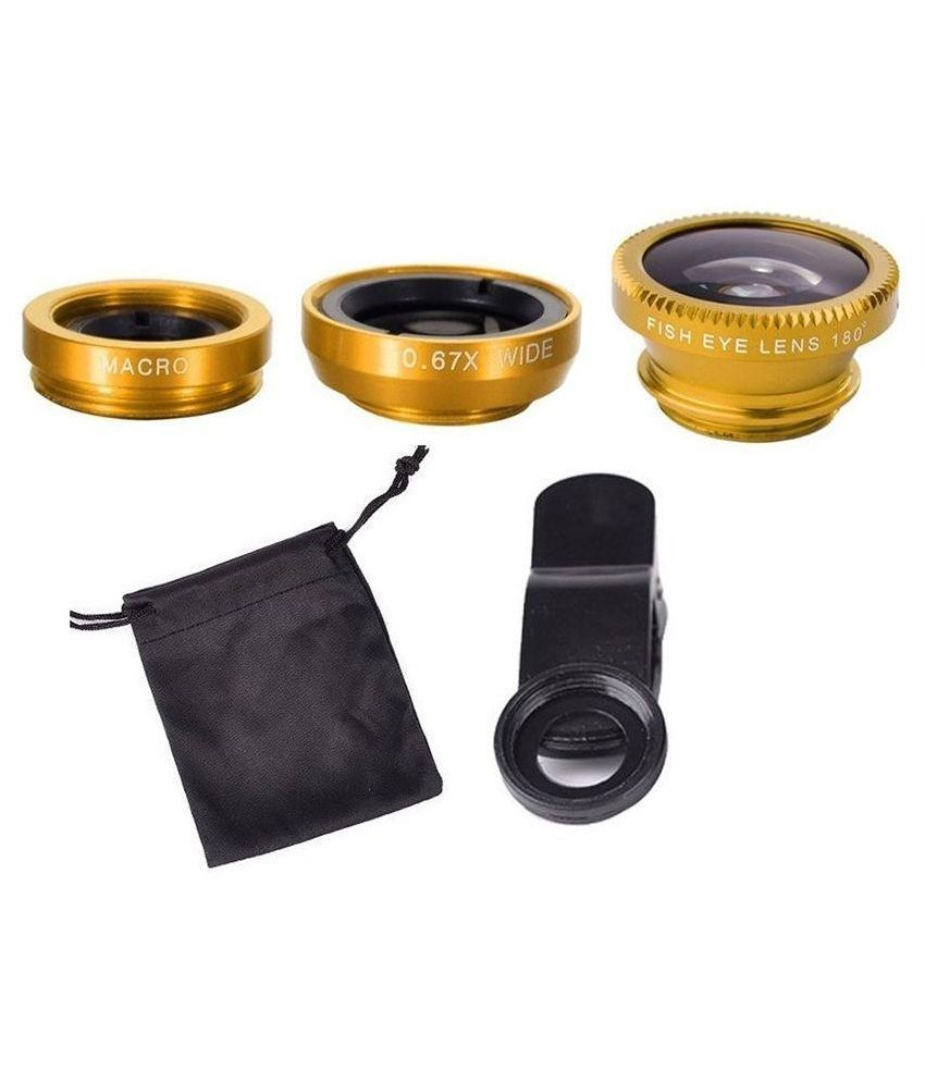 KSJ Gold Universal 3 in 1 Mobile Phone Lens Kit