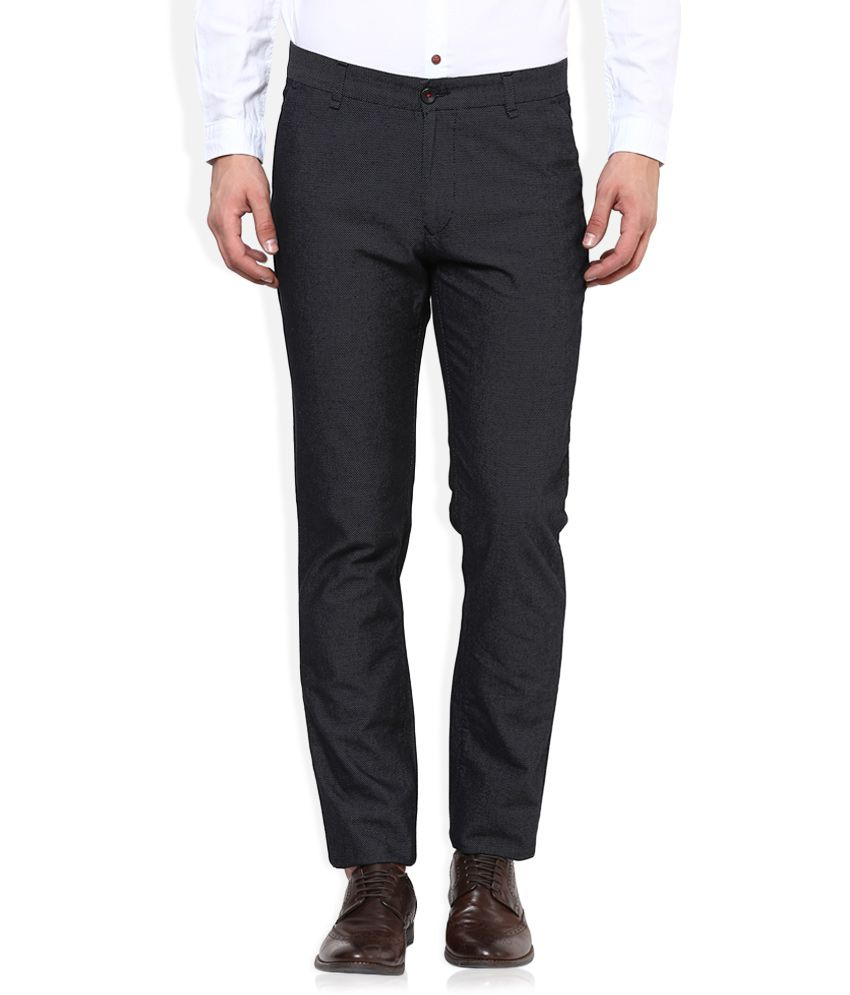 United Colors Of Benetton Black Slim Fit Trousers