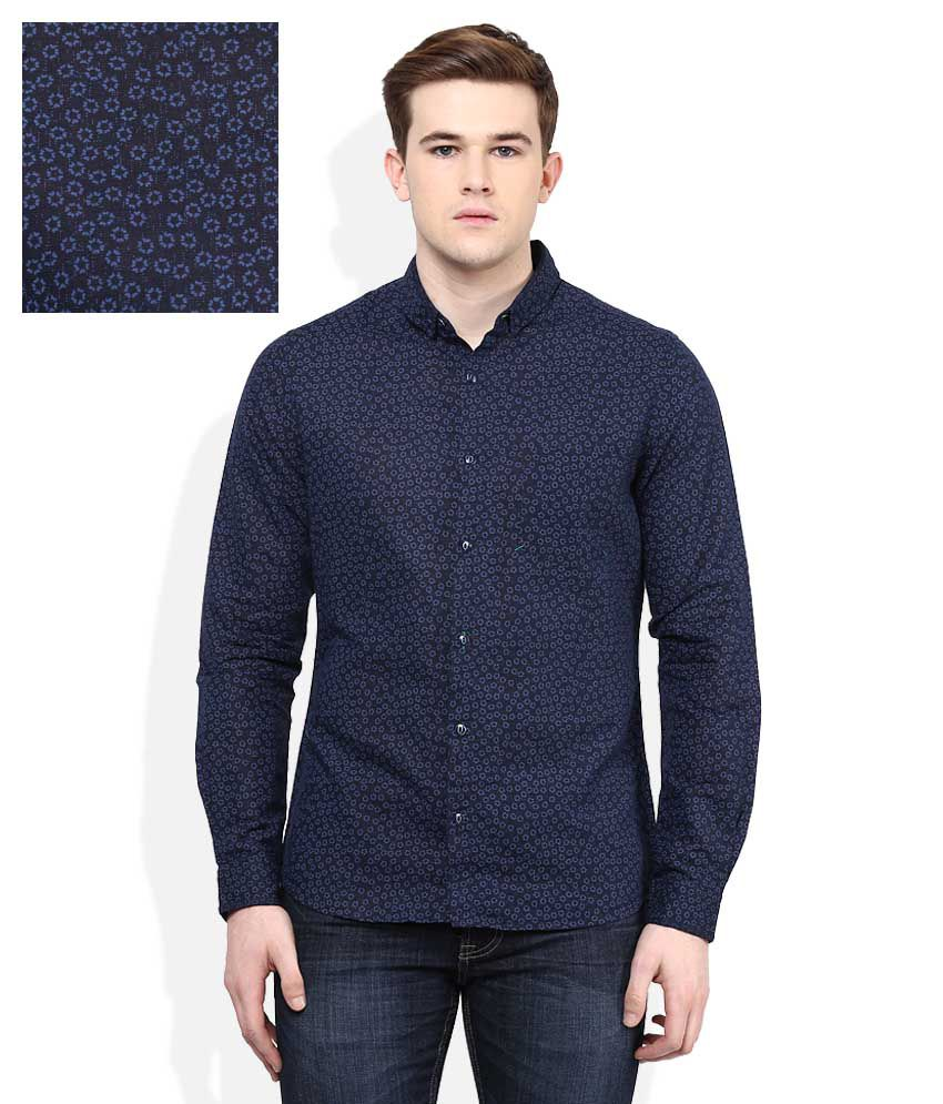 United Colors Of Benetton Navy Slim Fit Shirt Buy United