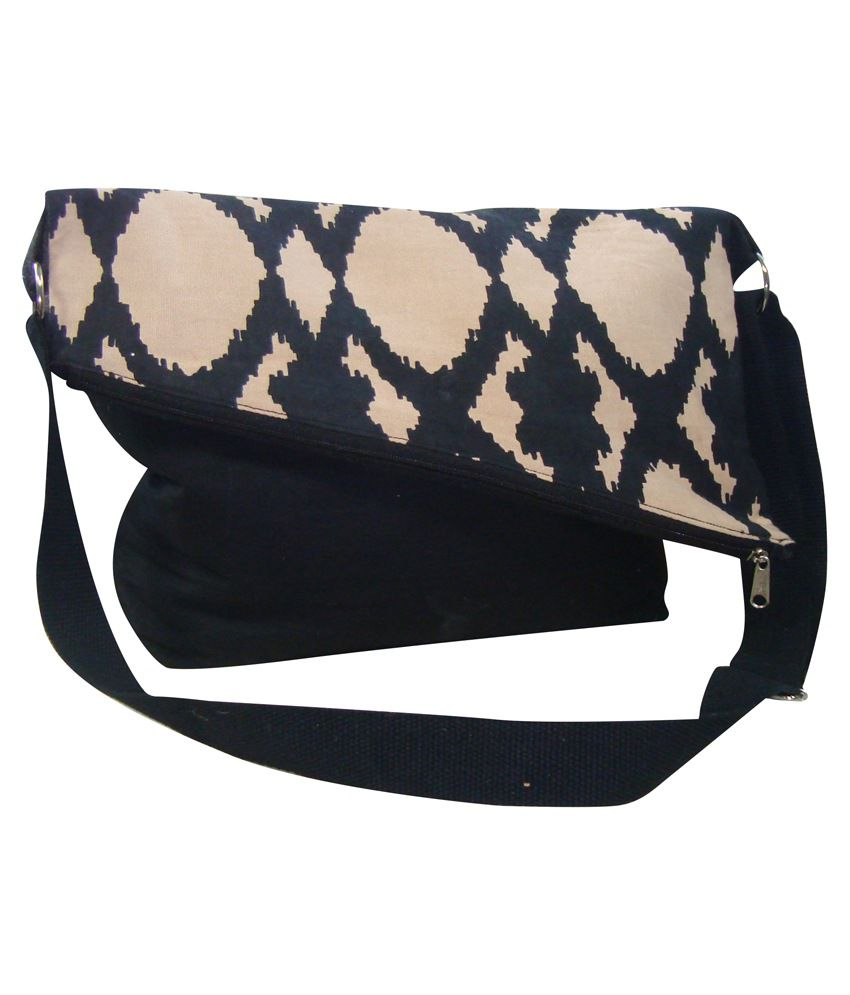 Angesbag Black Canvas Cloth Sling Bag