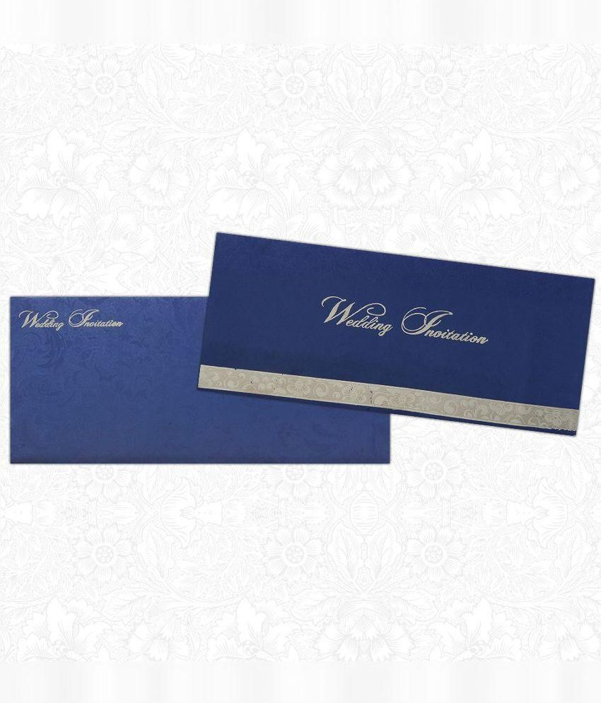 King Of Cards Blue Wedding Invitation Card - Pack of 100: Buy Online ...