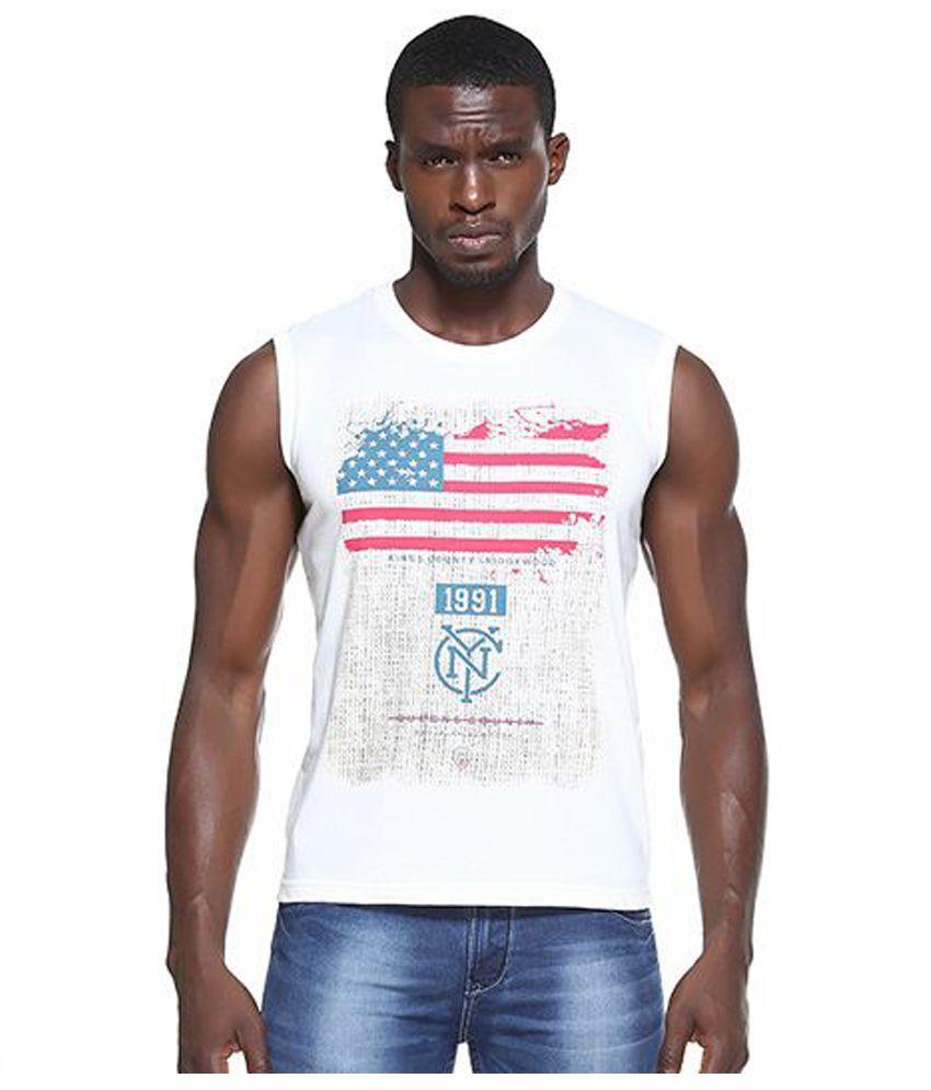 Octave White Round T Shirt