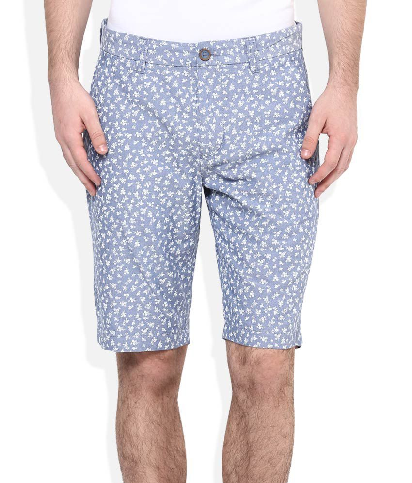 United Colors Of Benetton Blue Printed Shorts