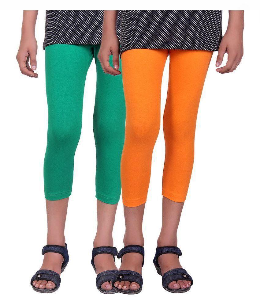 Alisha Multicolor Cotton Capri - Pack of 2
