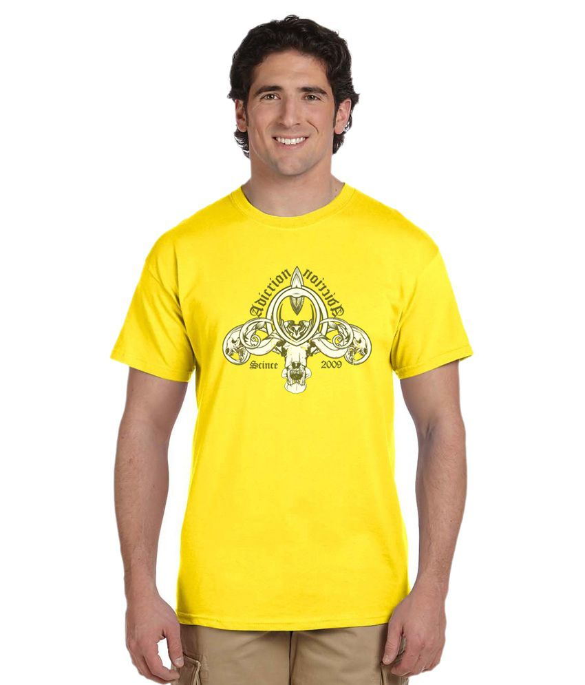 Haunting Dragons Yellow Round T Shirt