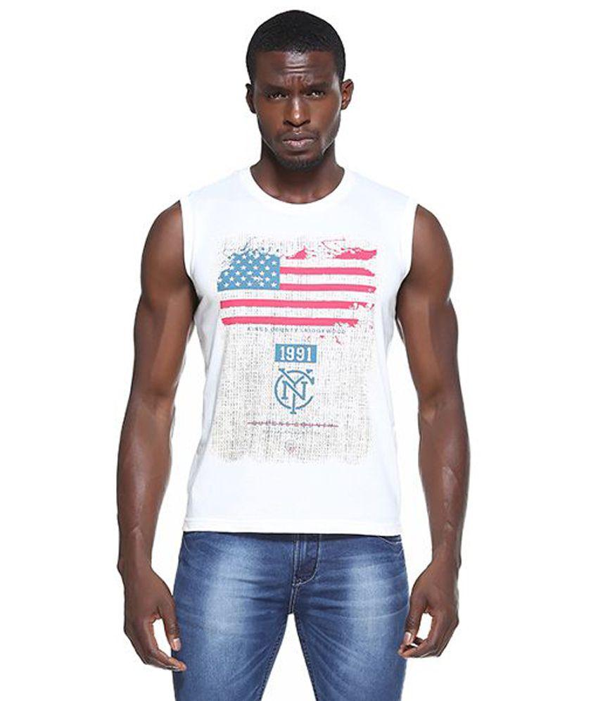 OCTAVE Off-White Round T Shirt