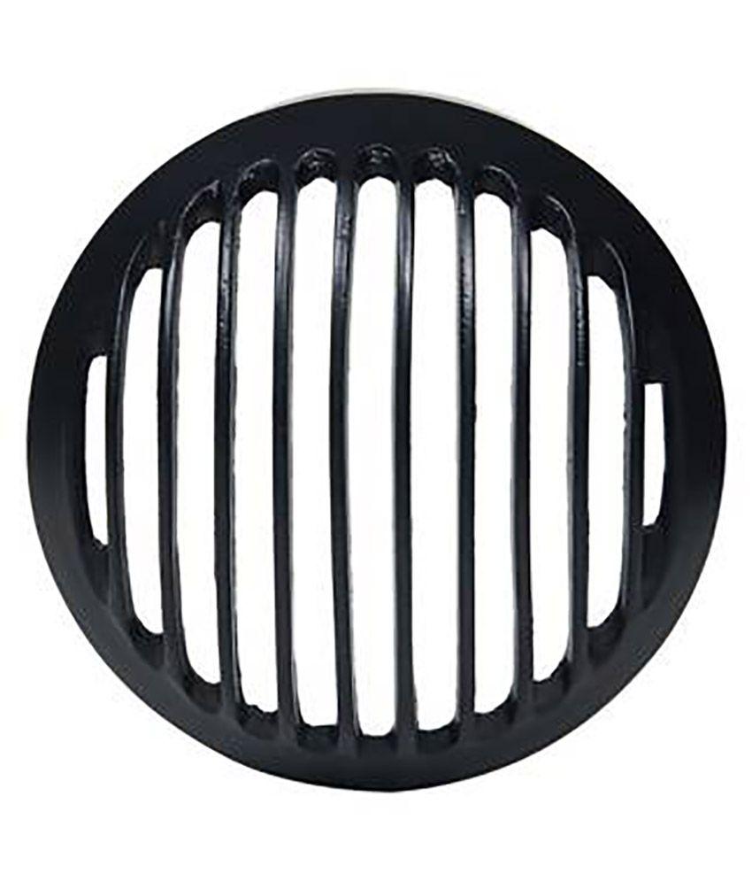 Bikers World Customised Black Heavy Metal Head Light Grill