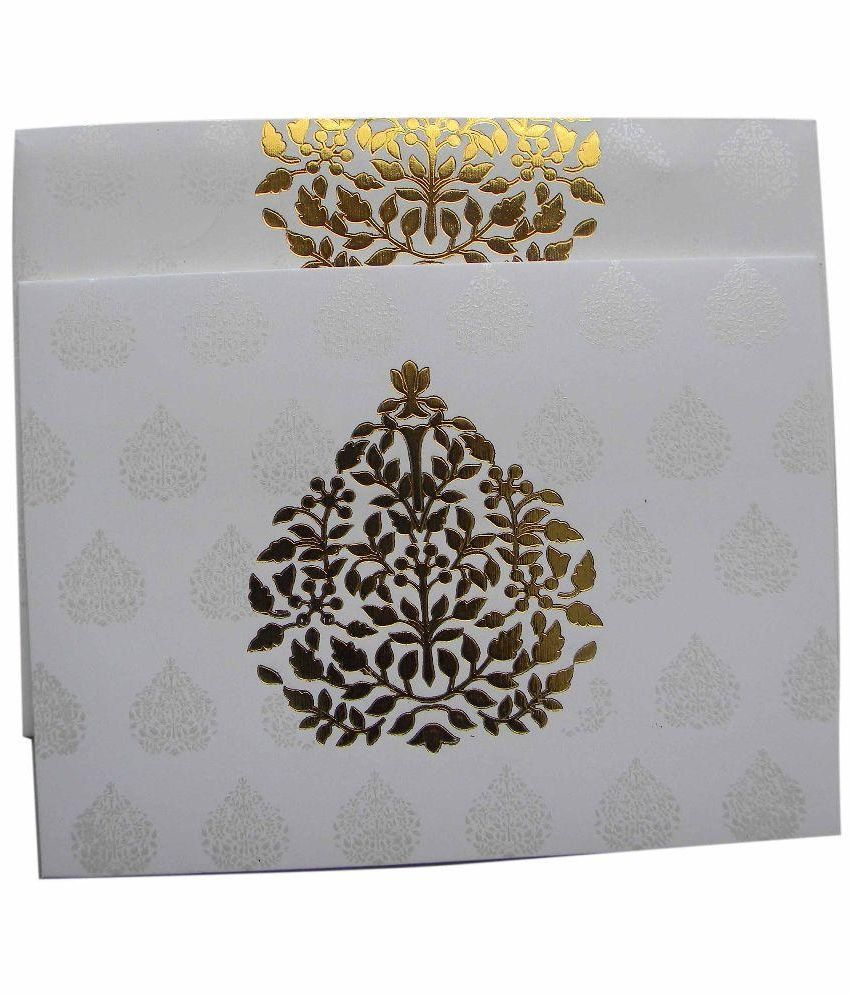 Vivaaha Cards White Greeting Cards Pack Of 50 Buy Online At Best