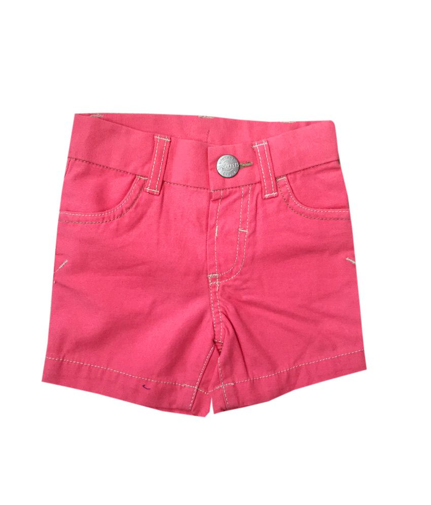 Vodoo Kids Pink Cotton Shorts