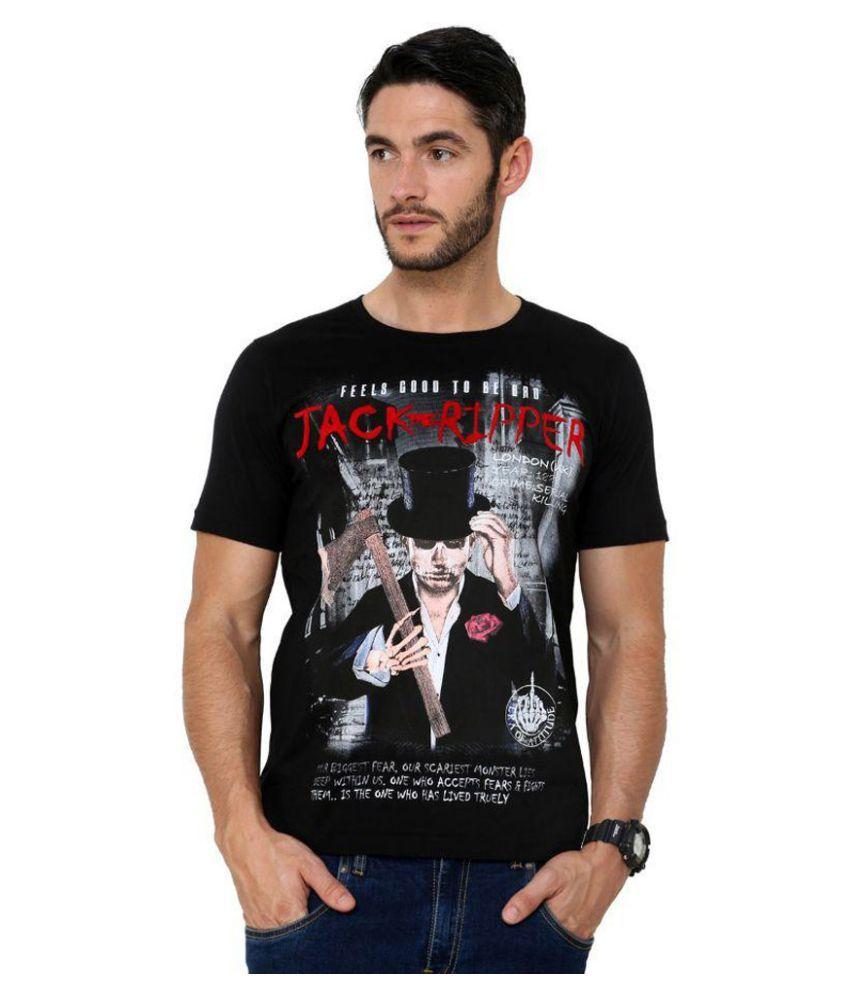 Era Of Attitude Black Round T-Shirt