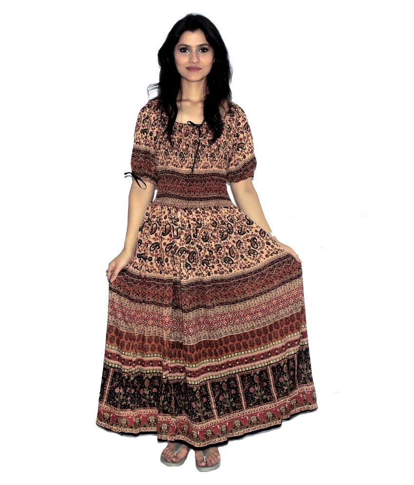 825b918499 Indian Fashion Guru Multi Color Rayon Maxi Dress - Buy Indian Fashion Guru  Multi Color Rayon Maxi Dress Online at Best Prices in India on Snapdeal