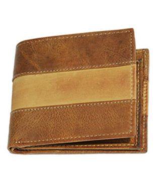 Crapgoos Brown Leather Formal Wallet For Men