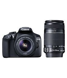 Canon 1300D with EF-S 18mm-55mm IS II Lens + EF-S 55mm-250mm IS II Lens , Memory card and Bag