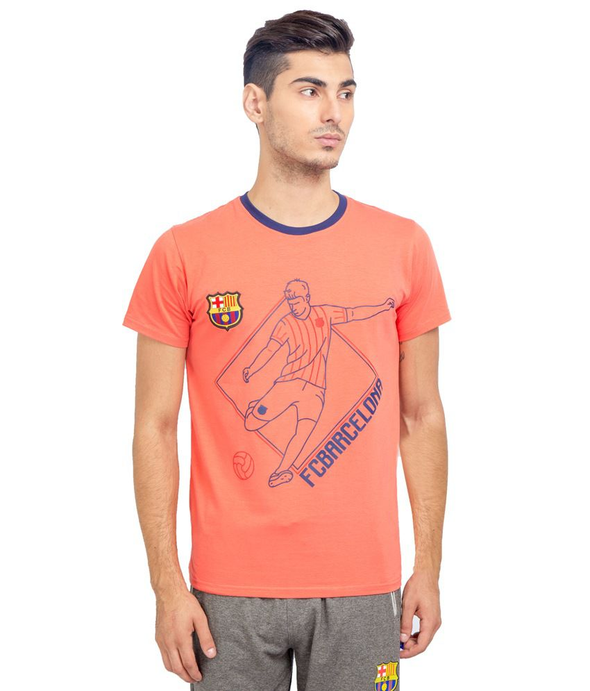 FC Barcelona Peach Round T Shirt