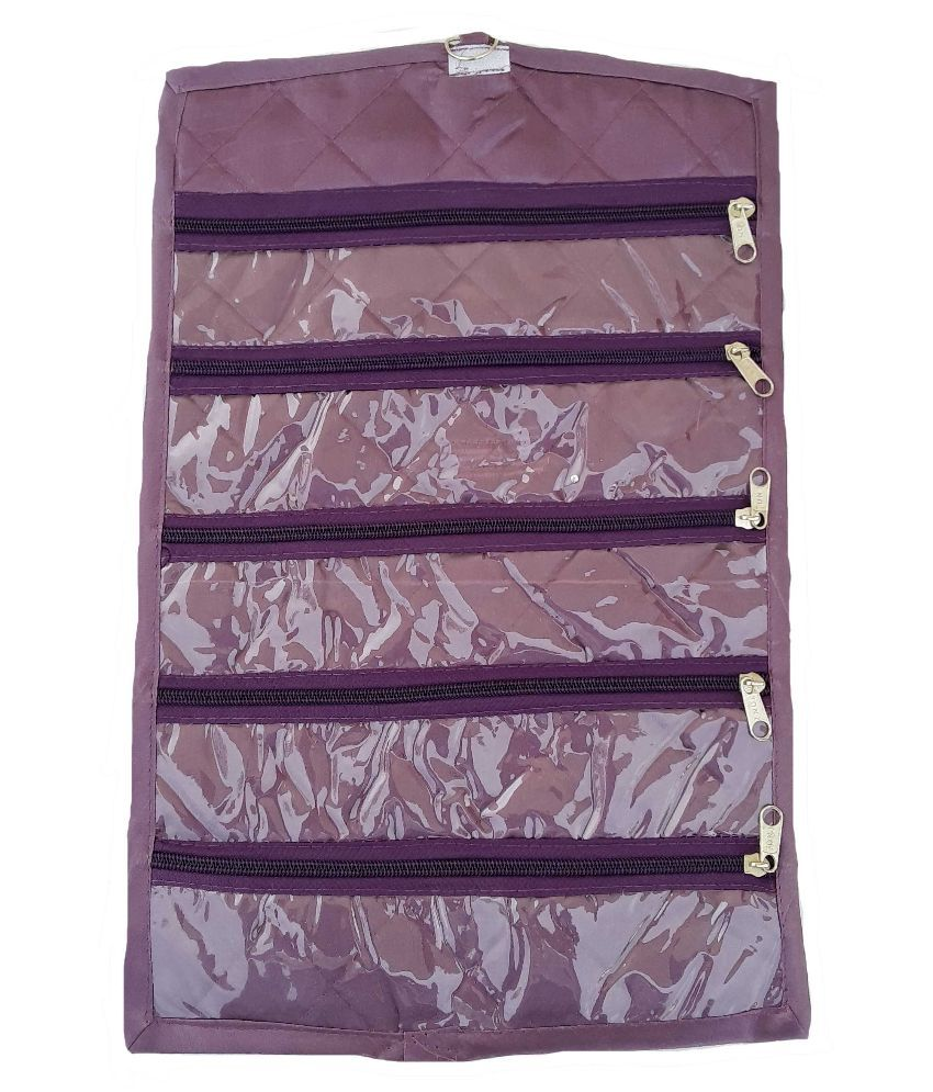 Indi Bargain Fabric Studded Purple Coloured Jewellery Box