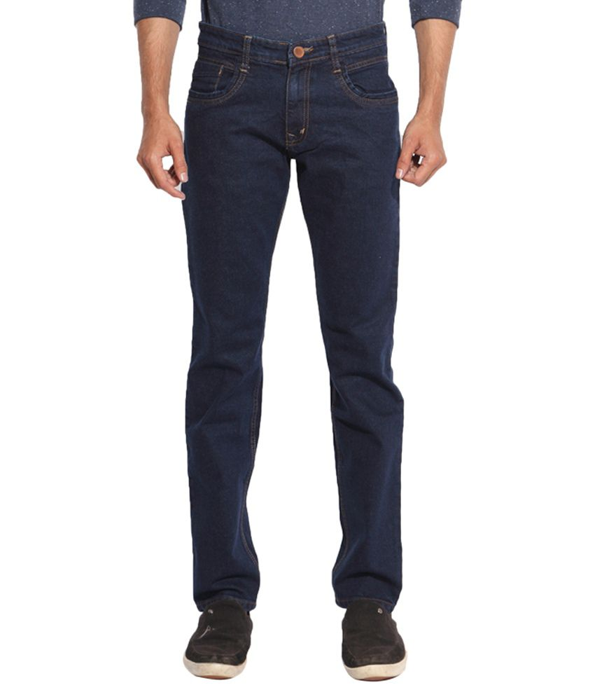 Inego Blue Regular Fit Solid Jeans Pack of 2