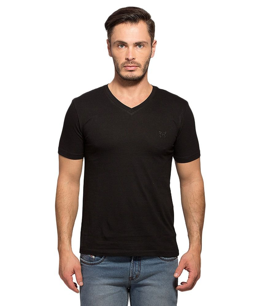 Maniac Black V-Neck T Shirt