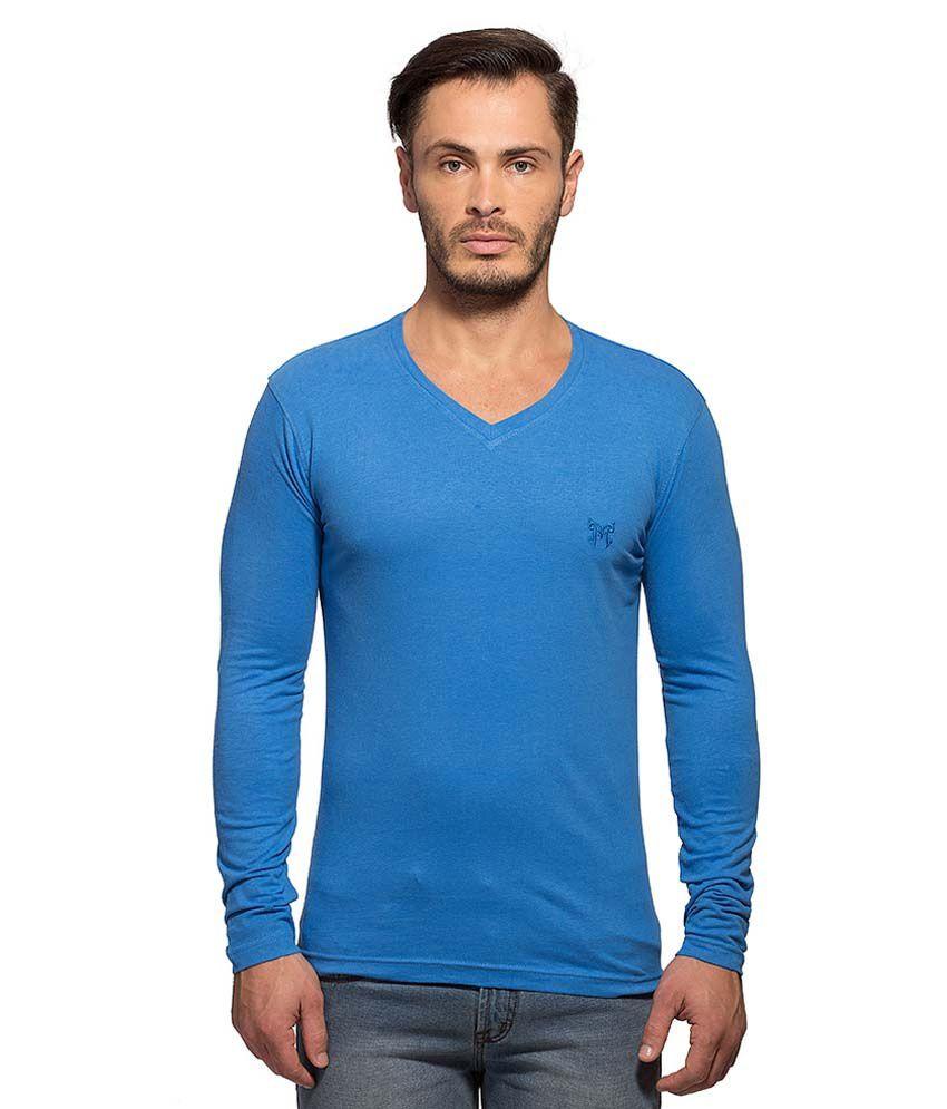 Maniac Blue V-Neck T Shirt