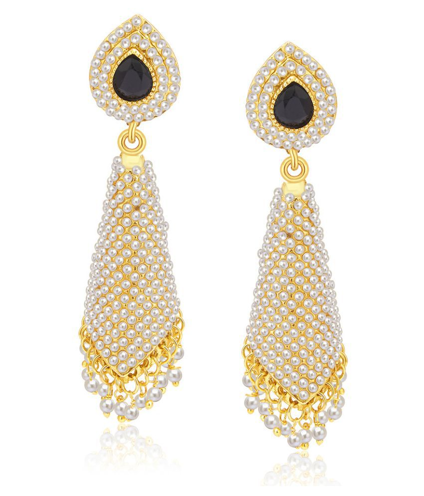 Sukkhi Alloy Gold Plating Studded Gold Coloured Earrings