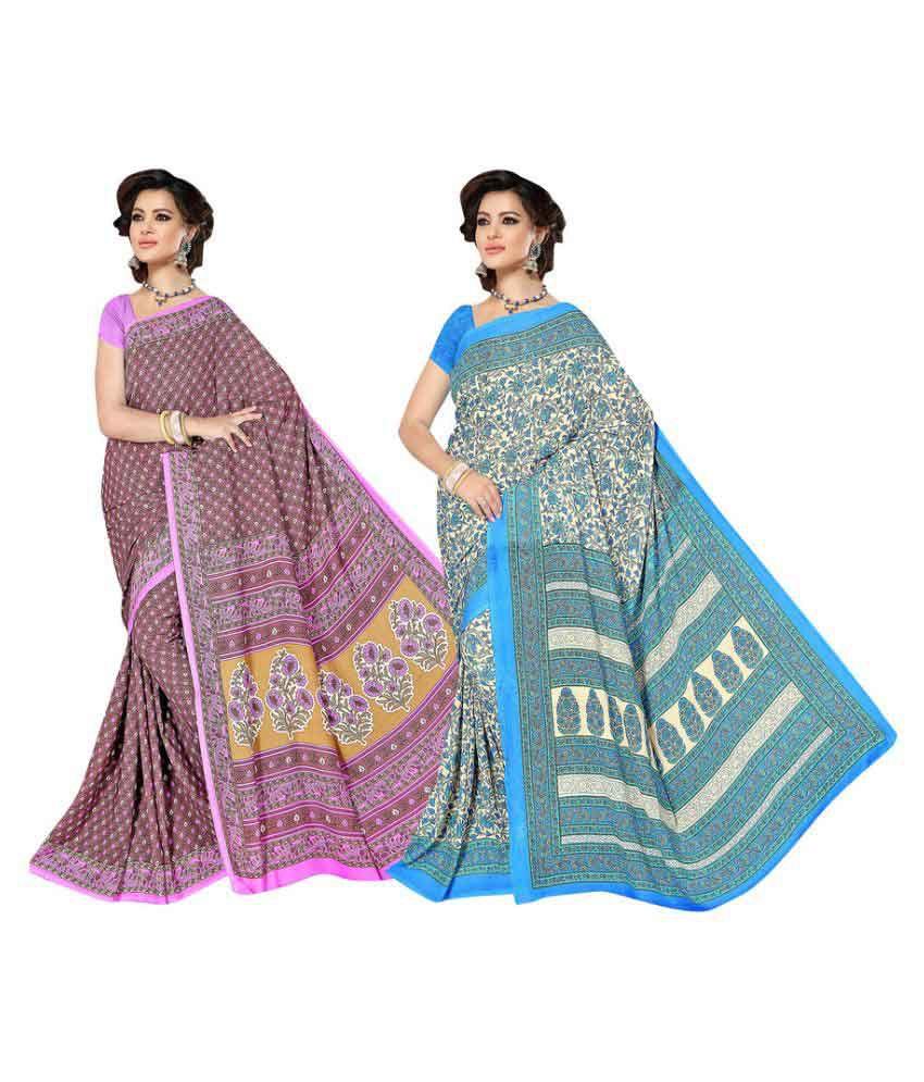 Viva N Diva Multicoloured Cotton Saree Combos