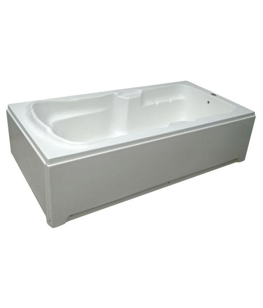 Madonna Elegant Acrylic Bath Tub with Front Panel and Side Panel - White
