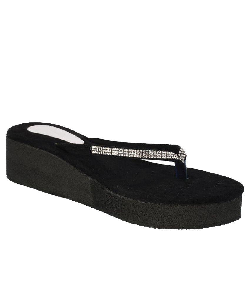 Suntrance Black Flip Flops