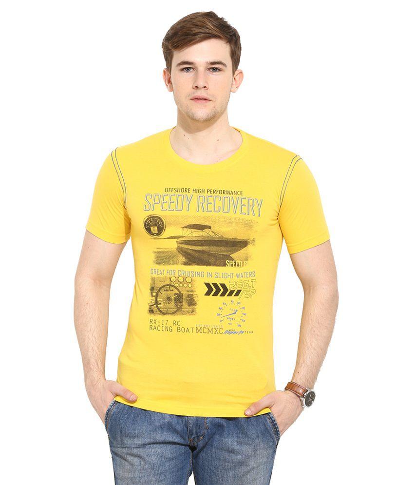 Duke Yellow Round T Shirt