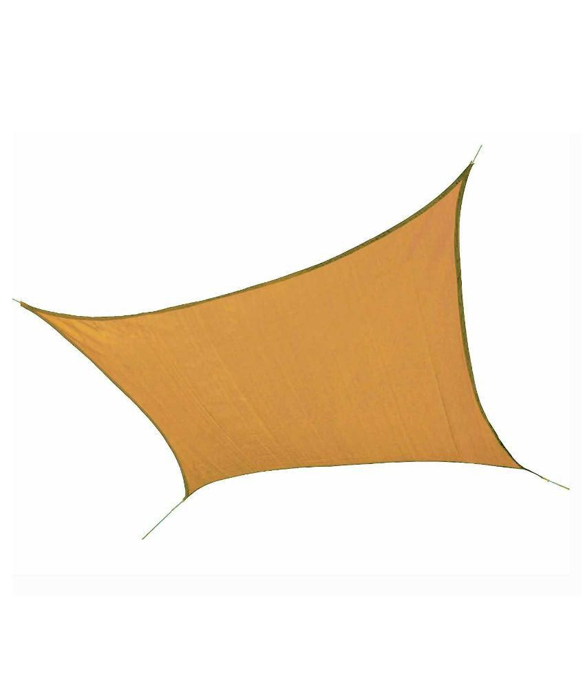 Hippo Shade Sail 9.5 X 10 FT in Beige Color with Attached Rope and upto 90% Sun Blockage