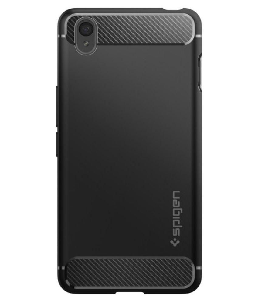 Spigen OnePlus X Back Case Rugged Armor Black