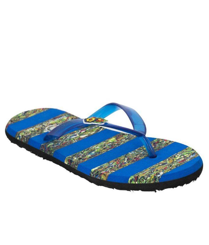 Advin England Blue Flip Flops
