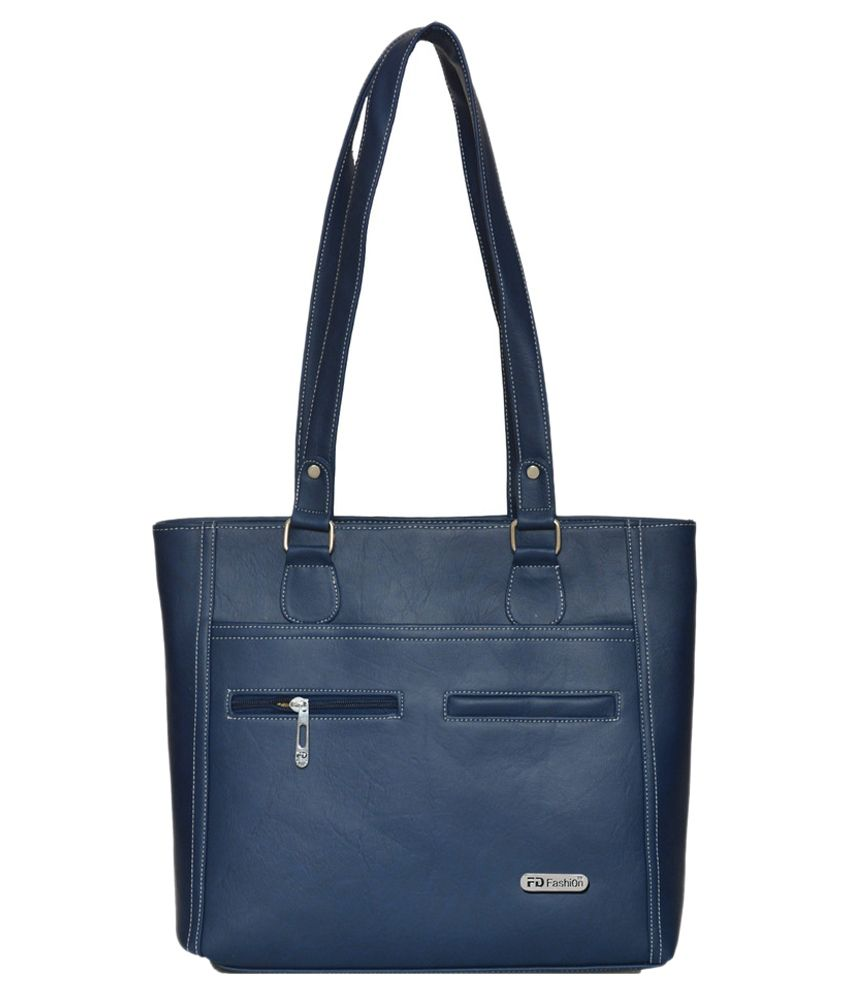 FD Fashion Blue P.U. Shoulder Bag