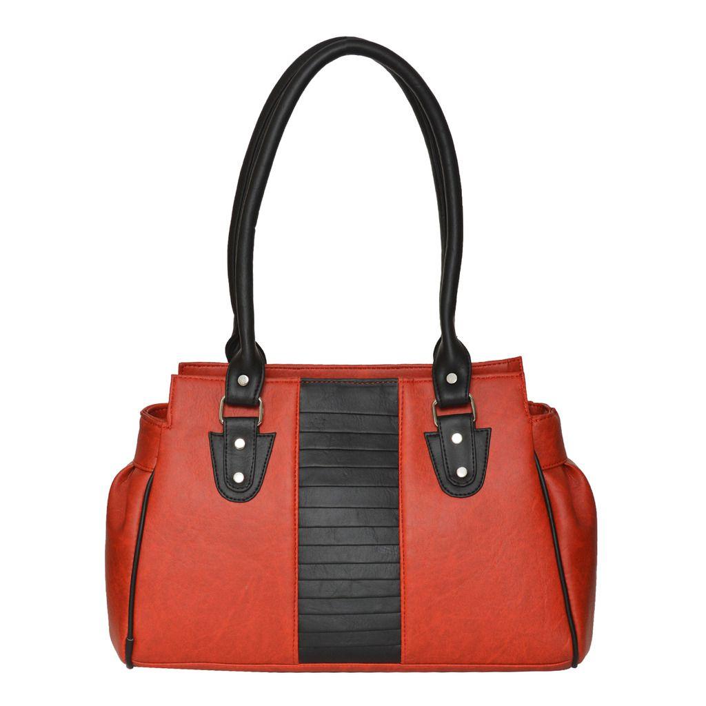 FD Fashion Red P.U. Shoulder Bag