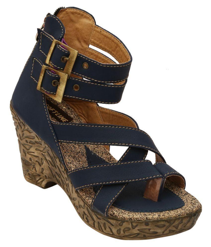 Remson India Blue Block Heels
