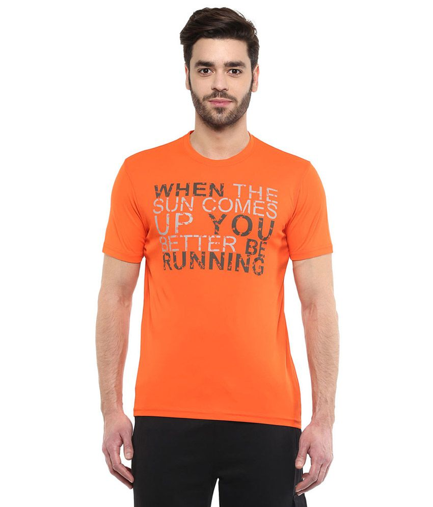 Ajile By Pantaloons Orange Round Neck T Shirt